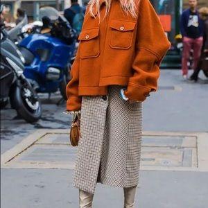 New Elegant Wrap Plaid Skirt. Perfect for fall. XS